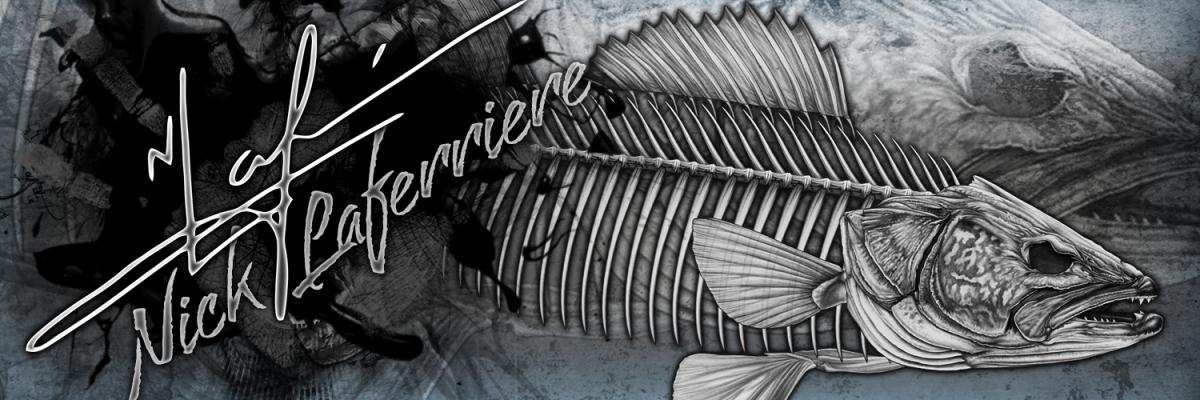 Bear Skull Drawing Walleye Skeleton | NIC...