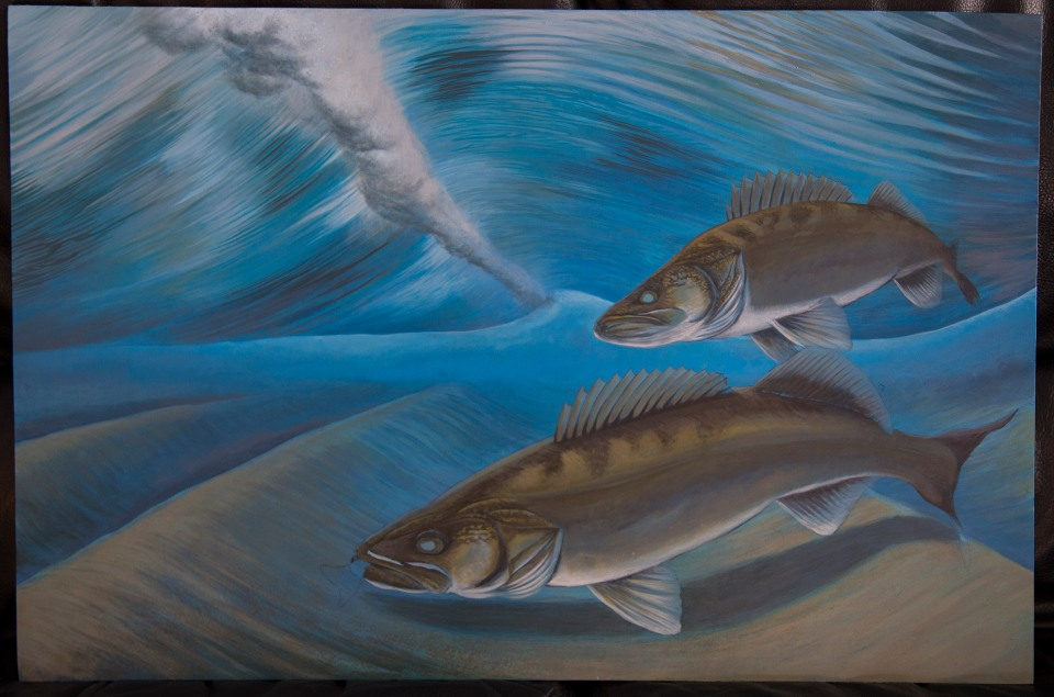 Wave Riders Walleye Painting